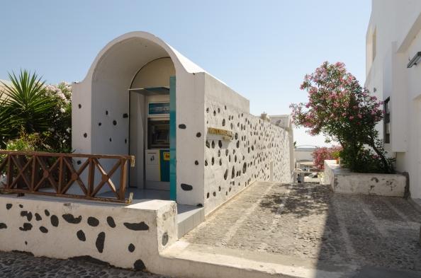 ATM Santorini Greece Mykonos