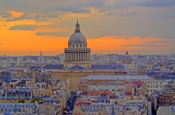 Quartier Latin Paris France Pantheon
