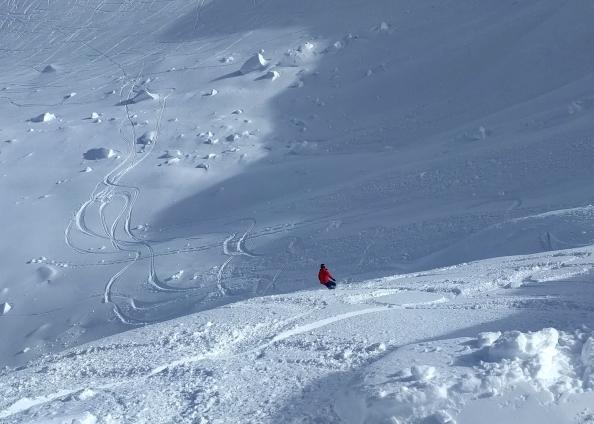 Stuey's slope powder snowboarding winter whistler British Columbia